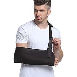 XGG Braguita para Brazo con Soporte de inmovilizador de Hombro para Mujeres y Hombres Correa Dividida Ajustable para recuperación del Brazo lesionado,L