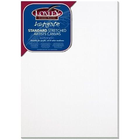 Colourfull Arts - Loxely Tela per gli schizzi tradizionale, 35 x 35 cm profondità 18 mm, colore: Bianco