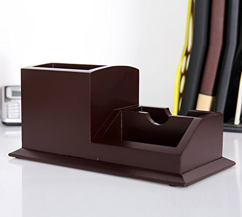 Wooden Desk Tidy / Caddy With Three Drawers And 13 Organiser Compartments