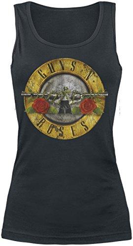 Guns N' Roses Distressed Bullet Top Mujer Negro S