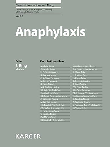 Chemical immunology and allergy : Anaphylaxis