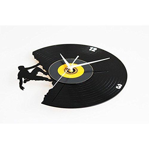 Zantec Mode kreative CD Vinyl Record Alben Film Wanduhr mit Klettern Mann Muster Dekoration Geschenk -