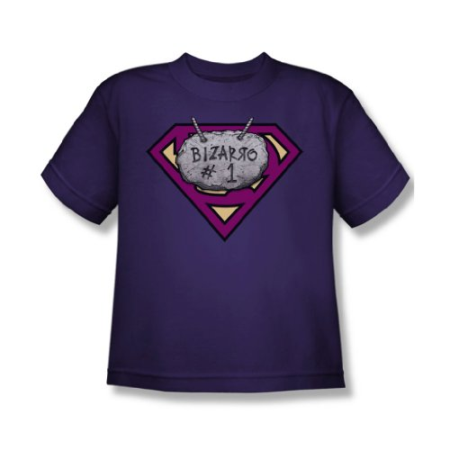 Superman - Jugend Bizzaro # 1 Rock T-Shirt in Lila, X-Large, Purple