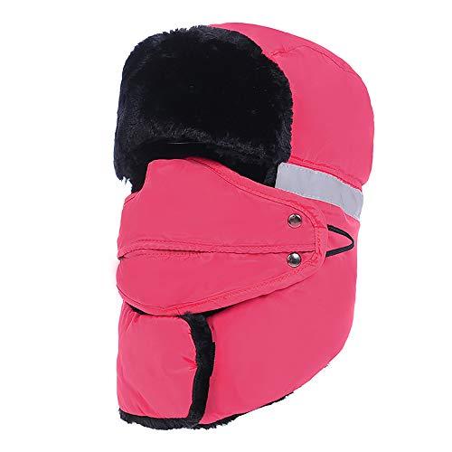 SMILINGGIRL Bomber Hut, Warme Mütze Mit Ohrenschützern Fänger, Piloten Warme Mütze, Winter Wind- und Schnee Isolierend Vollgesicht Skifahren im Freien Wandernden Kappe ()