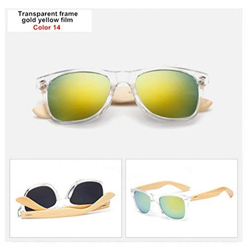 GJYANJING Sonnenbrille Bambus Sonnenbrille Männer Frauen Reise Brille Sonnenbrille Vintage Holz Bein Brillen Mode Sonnenbrille Männlich Weiblich