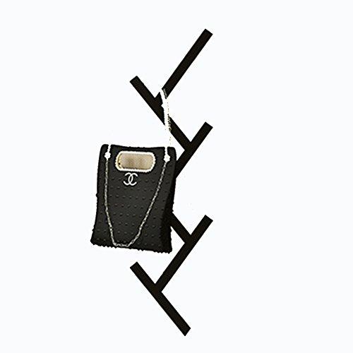LIANGLIANG Perchero De Pared Con Gancho Multifuncional Fijo Vertical Plancha De Metal Altura 79cm, 4 Colores Disponibles (Color : Negro)
