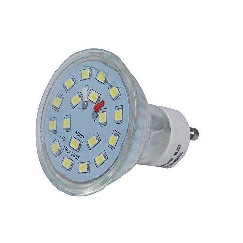 Jambo lampadine a LED GU10vetro Shell lampadine LED 200-204V, Warm white, gu10, 5.0 (Shell Accenti)