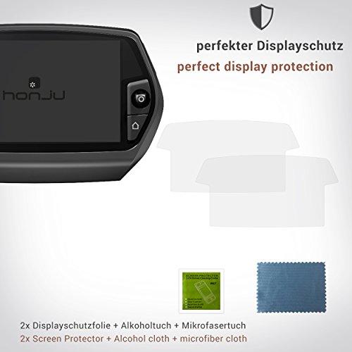 honju Bike Anti-Reflex Displayschutzfolie für Bosch Nyon eBike Display [2 Stk Made in Germany 100{65c6a3ed149b1c08bece5a05cdb38e052a0be1554f5c608d3050e5b780a31e10} passgenau, verbesserte Lesbarkeit, hält ohne Kleber, gegen Kratzer, Schmutz & Staub]