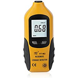 HT-M2 Pantalla LCD digital profesional Detector de fugas de microondas Medidor de radiación de alta precisión Tester 0-9.99mW / cm2 (negro y amarillo)