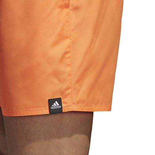 adidas Herren Solid Badeshorts, Blau, S Hi Res Orange