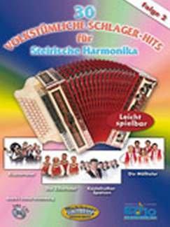 30 VOLKSTUEMLICHE 2 SCHLAGER HITS - arrangiert für Steirische Handharmonika - Diat. Handharmonika - mit CD [Noten/Sheetmusic]
