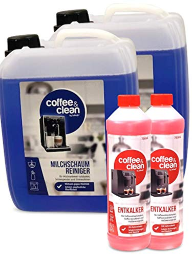 10L Milchschaumreiniger + 1,5L Flüssigentkalker für Kaffeevollautomaten Cappuccino- und Espresso-Maschinen Gastro