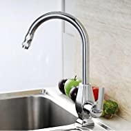 SHUYOU® Chrome-Plated Brass Kitchen Sink Faucet - Silver