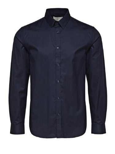 JACK & JONES PREMIUM Herren Slim Fit Business Hemd Jjprandrew Shirt L/s Tight Fit Sup, Blau (Dark Navy.), Small (Herstellergröße: S) (Fit Shirt Tight L/s)