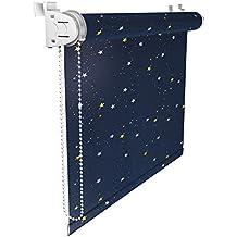 Victoria M Klemmfix - Estor opaco para ventana (fijación sin taladrar) tamaño: 45 x 150 cm estrellas