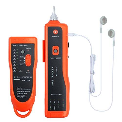 Proster Tester XQ 350 con Cuffie Tester di Cavo Rete Cellulare Telefono Rilevatore di Filo Portabile Alta Sensibilità per LAN Ethernet BNC RJ45 RJ11