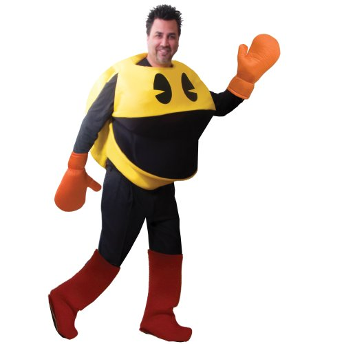 Pac-Man Deluxe Costume In Bag Adult -