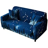 FORCHEER Sofabezug Elastisch 2-Sitzer Sofa-Überwürfe Sesselhussen Elastisch Hautfreundlich 135-180cm (53-71inches)