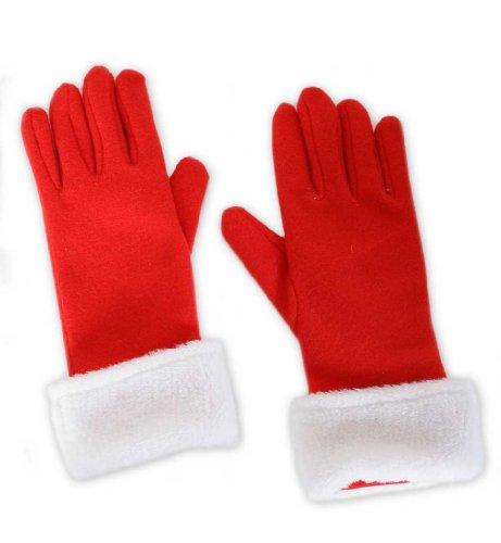 Handschuhe Nikolaus, rot, Weihnachten, Weihnachtsmann, (Lebkuchen Kostüme Mann)