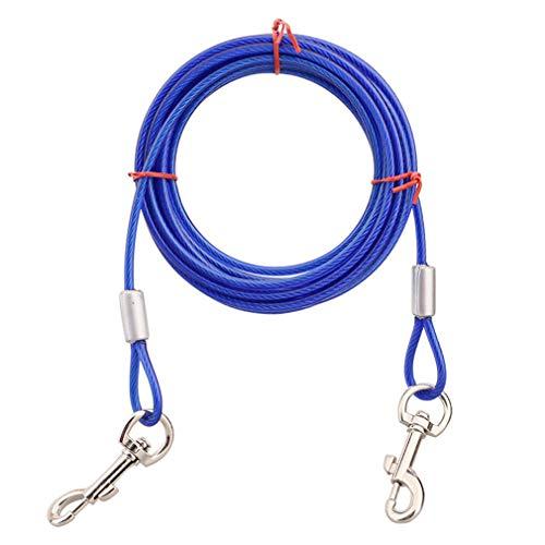 Haustier Tie-Out Leinen, Tie-Out Kabel Heavy Duty Dogs Kettenleinen für Kleine Mittlere oder Große Hunde,Blau,10ft -