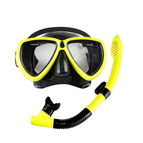 Vlook Schnorchel-Set, Anti-Leck-Tauchmaske mit Schnorchel, wasserdicht und komfortabel, extra weiter Betrachtungswinkel, für Ocean Lake-Swimmingpool