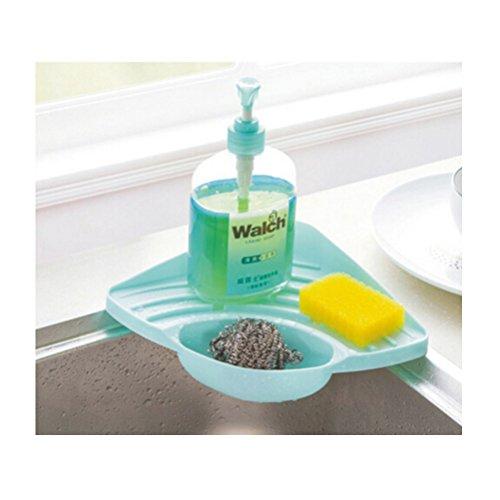 Schwamm Halter, jettingbuy Küche Waschbecken-Caddy Saugnapf-Halter für Schwämme, Seife, Gasabscheider, Reinigungsbürste, Grün blau
