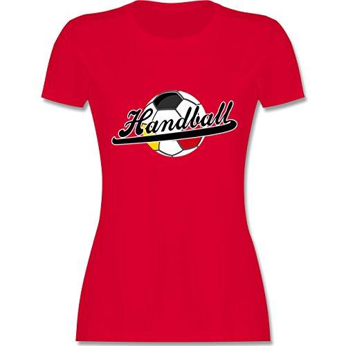 Handball WM 2019 - Handball Deutschland - M - Rot - L191 - Damen T-Shirt Rundhals