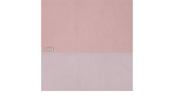 Rosa 75 x 100 cm Jollein Bettdeckenbezug und Kissenbezug weich kleine Waffelpiqu/é Betttuch 75 x 100 cm
