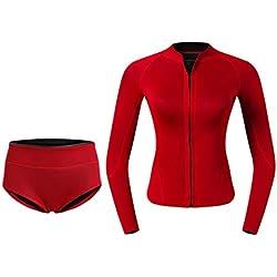 CUTICATE Combinaison de Plongée Néoprène pour Femme, Combinaison de Surf Longue Hiver, Séchage Rapide pour Kitesurf, Wakeboard, Kayak