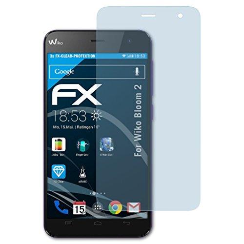 atFolix Schutzfolie kompatibel mit Wiko Bloom 2 Folie, ultraklare FX Displayschutzfolie (3X)