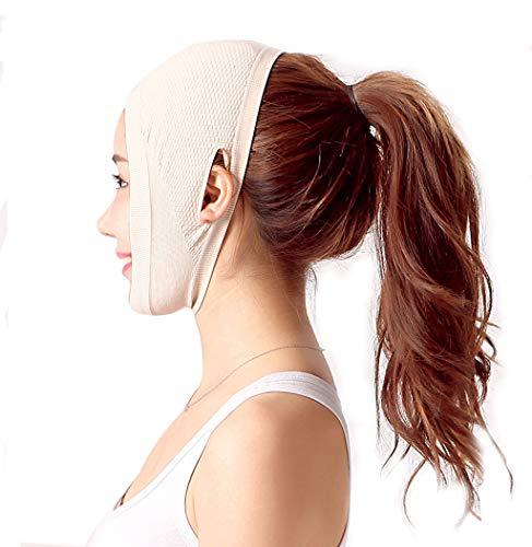 WYNZYSLBD Ligne De L'hôpital De La Chirurgie Plastique Sculpture Masque Médical De Récupération De Récupération Postopératoire Sleeping V Face Lifting Bandage Thin Masque (taille : Skin tone(A))