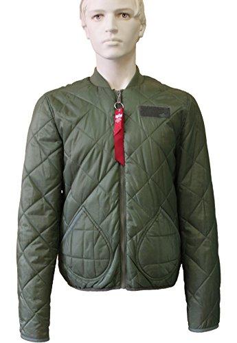 ALPHA INDUSTRIES Pack Jacket Steppjacke Blouson Fliegerjacke Grün Herren Jacke L