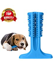 PetVogue Dog Toothbrush Stick Bristly Brushing Stick Dog Teeth Cleaning Treats Chew Toys Bite Resistant Puppy Effective Dental Care Doggy Natural Rubber Massager for Small & Medium Dogs Pets- Small