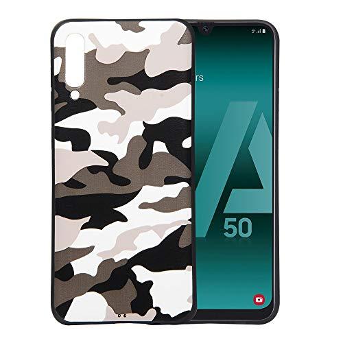 jbTec® TPU-Case Schutz-Hülle #AR6 Camouflage passend für Samsung Galaxy A50 - Silikon Cover Tasche TPU Handy-Hülle, Farbe:Weiß, passend für:Samsung Galaxy A50