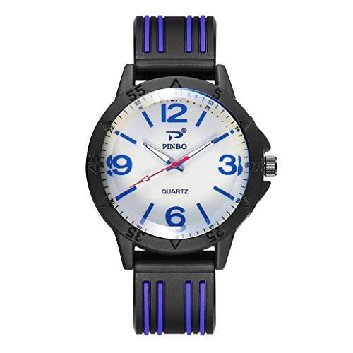 PU-Ledergürtel-beiläufige Art und Weise Passt DREI Sechs-Stift Quarz-Uhren auf 3213rot blau