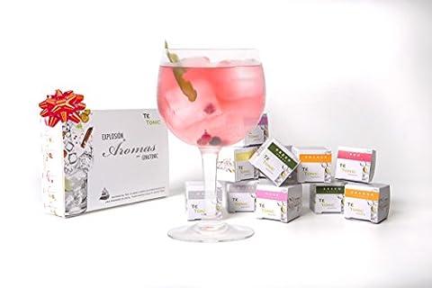 la Fête des Mères Ensemble d'épices aromatisées au Gin et Tonic, mini boîte de Te Tonic, 24 infusions, 6 saveurs. Ingrédients aromatisants pour pimenter votre cocktail Gin & Tonic, coffret cadeau gin, Options d'expédition gratuites - Lampone Menta Tè