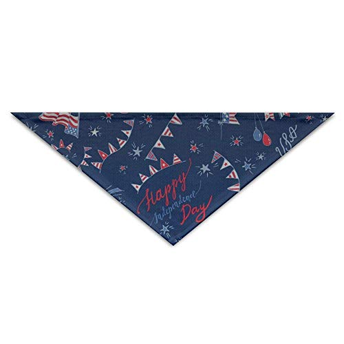 Wfispiy Lovely Happy Independence DayDog Birthday Pet Bandana Collars for Dogs and Cats