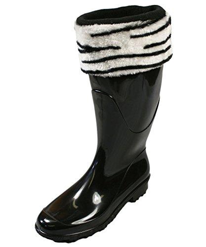 BootiliciousDamen Socken Elfenbein Zebra