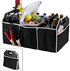 Pearl ACE Car Boot Organizer, Auto Car Trunk Tidy Bag, Collapsible Storage Box, Fold-able Multi-use Tools