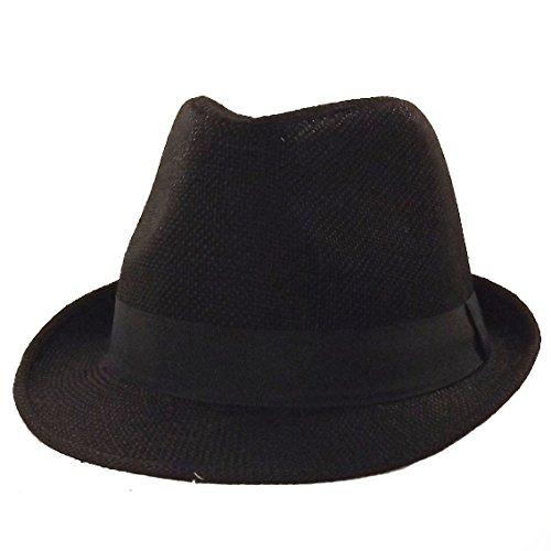 Chapeau-tendance - Chapeau Trilby Noir Brad - 56 - Homme