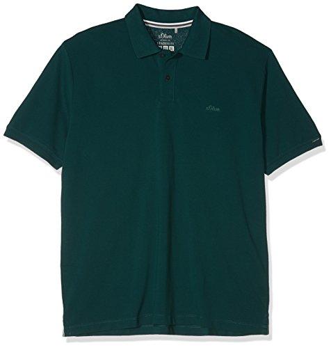 s.Oliver Big Size Herren Poloshirt 15.806.35.5443, Grün (Olive 7889), XXXXX-Large (Poloshirt Big Tall Herren)