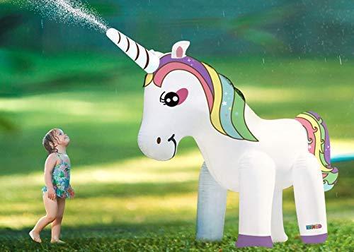 Inflatable Einhorn Sprinkler Groß Garten Außen Schwimm Planschbecken Party Spielzeug Wasserschlauch Jumbo Jet Regen Zerstäuber Dusche Familie Summer Fun ()