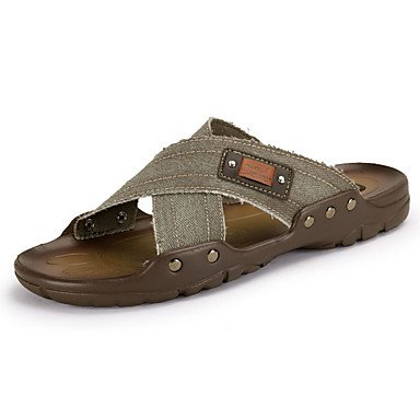 pantofole Infradito da uomo Pantofole & amp;Infradito estate denim casual piani del tallone Altri Bl sandali US8 / EU40 / UK7 / CN41