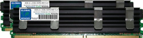 GLOBAL MEMORY 4GB (2x 2GB) DDR2800MHz PC2-6400240-PIN ECC Voll gepuffert (FBDIMM) Arbeitsspeicher RAM Kit für Mac Pro (Anfang 2008) -