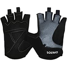 Amazon Brand – Solimo Gym Gloves (Medium), Black/Grey