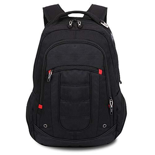 Räße moda nero laptop zaino super moderno unisex poliestere scuola borsa impermeabile escursionismo borsa sport zaino laptop bag-34x 17.5 x49cm (13.39 x 6.89 x 19.29 pollici)