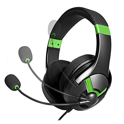 AmazonBasics -  Auriculares de gaming -  Verde