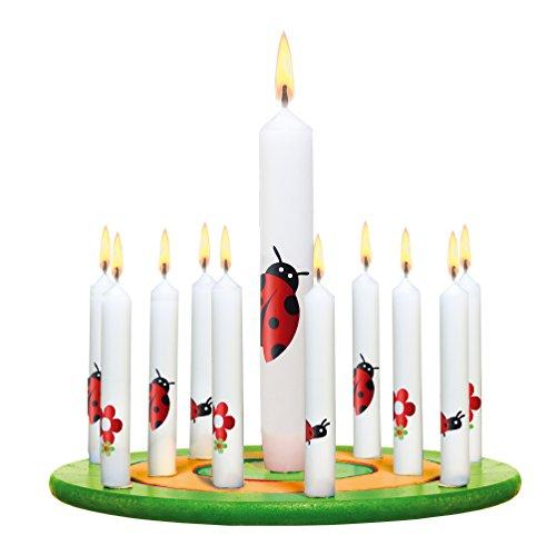 Susy Card 11367109 Kerzenset für Kerzenring, 10 plus 1
