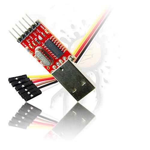 Androegg Cts DTR CH340 USB TTL RS232 UART seriell Konverter inkl. Kabelset -