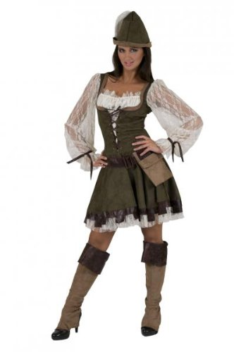 Robin Hood Lady Kostüm Damen Gr. 36 38 (Die Jägerin Kostüm)